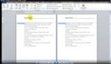MS Word - puslapių numeravimas, antraštės ir poraštės