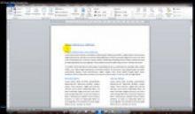 MS Word - skilčių formatavimas