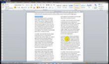 MS Word - skilčių kūrimas